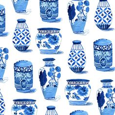 Indigo pots - pattern by Jennifer Orkin Lewis (August wren) Blue And White China, Middle School Art, Art Plastique, Elementary Art, Teaching Art, Art Activities, Asian Art, Art Education, Ceramic Art