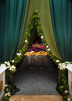 When the celebrations began following the ceremony, guests were surprised to enter the famous Mar-a-lago ballroom and find that they were inside of a tent.