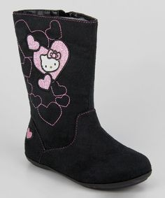 Black Hello Kitty Lil Sophia Boot designed by Heather Lee Allen. To check out more of my work, please go to www.behance.net/HeatherLeeAllen