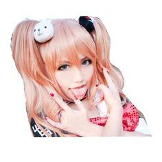 Danganronpa Junko Enoshima Cosplay wig -- Click image to review more details.