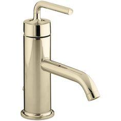 Kohler Purist Single-Hole Bathroom Sink Faucet with Straight Lever Handle…