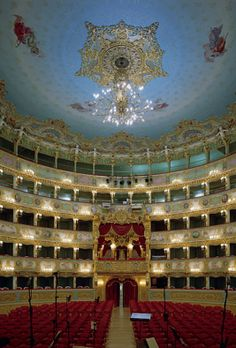 Teatro La Fenice is an opera house in Venice, Italy. It is one of the most famous theatres in Europe, the site of many famous operatic premieres.--ITALIA by Francesco -Welcome and enjoy- frbrun Covent Garden, Visit Italy, Concert Hall, Dream Vacations, Italy Travel, Wonders Of The World, Places To See, Destinations, Opera House
