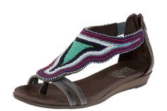 beaded sandals that are made by the Maasai and helps support the Maasai project