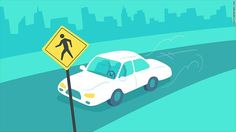 """""""The technology in self-driving cars will be able to identify when a person is trying to cross a street and slow down. This could impact the concept of jaywalking."""" via CNN Tech - http://ift.tt/2i32JZz"""