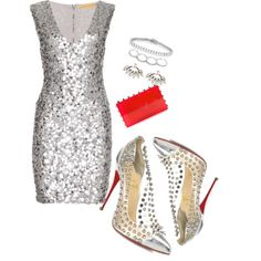 """""""SparklingSilver"""" by prettysexiness on Polyvore"""