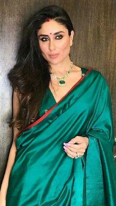 Kareena Kapoor Looks Stunning As She Enjoys Karan Johar 's Magical Diwali Bash - HungryBoo Kareena Kapoor Saree, Kareena Kapoor Photos, Priyanka Chopra, Deepika Padukone, Kareena Kapoor Wedding, Shilpa Shetty, Madhuri Dixit, Bollywood Celebrities, Bollywood Fashion