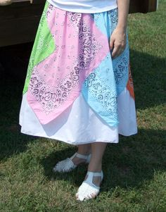 I also like the thought of one of the aforementioned bandanna skirts with a ruffled petticoat under it, a similar concept to this one, but cuter...