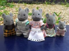 Thistlethorn Mouse Family -- Vintage 1980's Sylvanian Families flocked mice dolls toys maple town forest animals on Etsy, $39.80 AUD