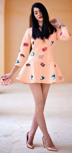 Preppy Pattern Little Dress... - Street Fashion