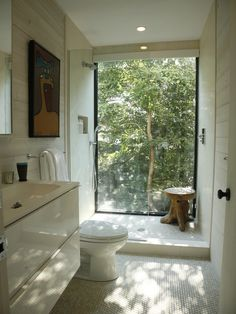 Window In Shower Design Ideas, Pictures, Remodel and Decor Bathroom Window Glass, Window In Shower, Mold In Bathroom, Natural Bathroom, Bathroom Windows, Shower Seat, Bathroom Mirrors, Window Wall, Garage Bathroom