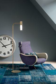 Varianti per Il Fanale - Etoile terra - design Mirta Lando Brass Floor Lamp, Lamp Design, Outdoor Furniture, Outdoor Decor, Eames, Sun Lounger, Lighting, Room, Home Decor