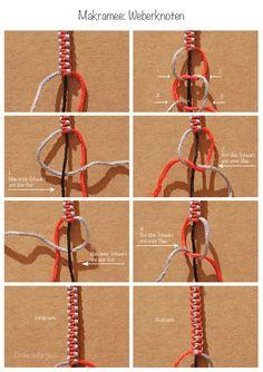 Most up-to-date Images Macrame diy pulseira Strategies Makramee Weberknoten, macramé square knot Diy Friendship Bracelets Patterns, Diy Bracelets Easy, Bracelet Crafts, Macrame Bracelets, Knot Bracelets, Macrame Square Knot, The Knot, Jewelry Knots, Diy Jewelry