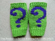 Knitting Pattern: The Riddler Fingerless Gloves by DuckyDame