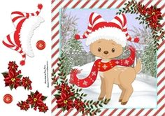 Cute Reindeer With Santa Hat 8x8 on Craftsuprint - View Now!