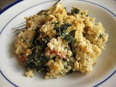 Quinoa with Sauteed Kale and Goat Cheese
