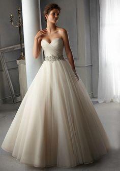 Wedding dress Mori Lee 5276 2015 Bridal Colletion with Rhinestone Crystal Belt