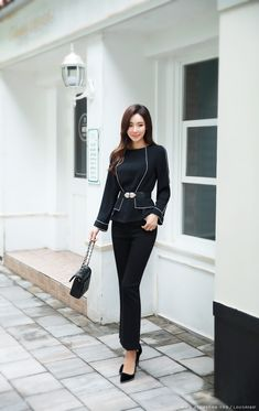 Korean Women`s Fashion Shopping Mall, Styleonme. Korean Fashion Office, Korean Fashion Tomboy, Korean Fashion Summer, Asian Fashion, Tomboy Street Style, Office Outfits, Casual Outfits, Lovely Girl Image, Camila
