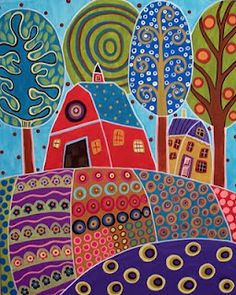 Folk Art Landscape
