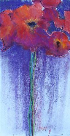Barbara Szkutnik - Red Bouquet- Pastel - Painting entry - November 2011 | BoldBrush Painting Competition