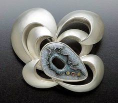 Sterling Silver and enamel pin -Michael & Maureen Banner