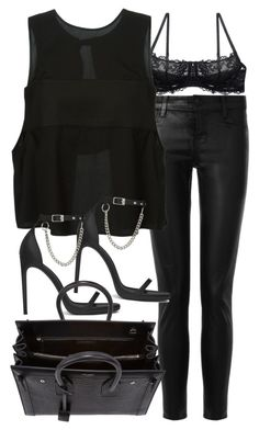 Untitled #18722 by florencia95 on Polyvore featuring T By Alexander Wang, J Brand and Yves Saint Laurent