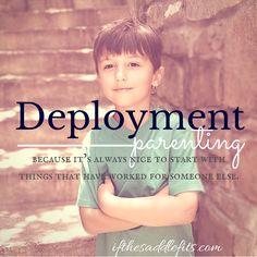 Deployment Parenting at ifthesaddlefits.com