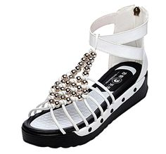 PerfectAZ Women Fashion Casual Peep Toe Beads Walking Gladiator Sandals >> Additional details at the pin image, click it  : Hiking sandals