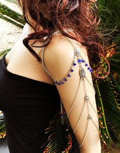 Chain Armlet Shoulder armor chain shoulder jewelry by Ninnos