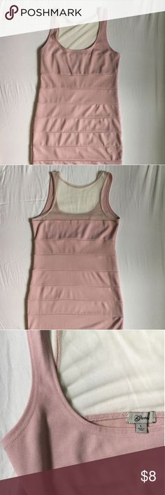 GUESS Bodycon Dress Blush colored GUESS dress size Large. Sleevless. Guess Dresses Midi