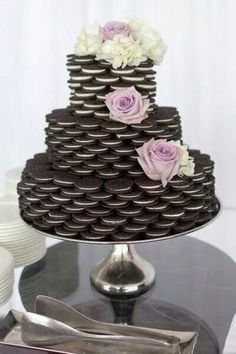 Oreo cookie faux wedding cake