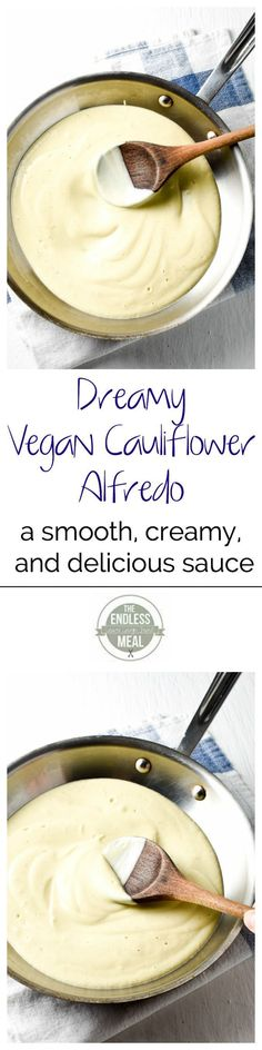 Dreamy Vegan Cauliflower Alfredo | The Endless Meal. *Be sure to use gluten free tamari or coconut aminos in place of soy sauce* #BeingVegan
