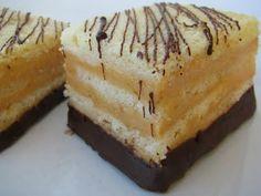 Merendine con crema di albicocche al sapore di cioccolato Pancake Muffins, Pancakes, Cake Factory, Sweet Cakes, Dessert Bars, Cakes And More, Fett, Biscotti, Cheesecake