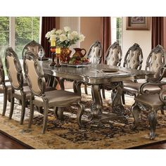 Shop Acme Ragenardus Formal Dining Table in Vintage Oak - On Sale - Overstock - 20850621 Acme Furniture, Dining Room Furniture, Dining Room Table, Table And Chairs, Side Chairs, Console Tables, Dining Set, Room Chairs, Dining Rooms
