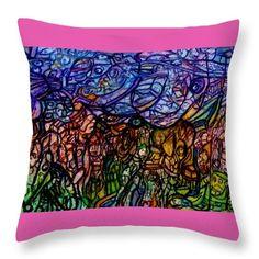 Stuff Throw Pillow by Stephanie Zelaya