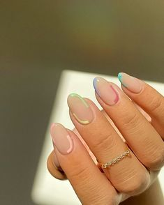#nailideas #manicure #frenchtip Acrylic Nails Coffin Short, Simple Acrylic Nails, Best Acrylic Nails, Acrylic Nail Designs, Teen Nail Designs, Art Designs, Fruit Nail Designs, Short Gel Nails, Almond Nails Designs