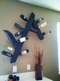 DIY Wine rack - wish I had somewhere to put something like this. This is awesome.