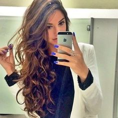 rulos + iphone her hair 😍😍 Big Hair, Wavy Hair, Ombre Hair, Messy Hairstyles, Pretty Hairstyles, Layered Hairstyles, Great Hair, Hair Day, Gorgeous Hair