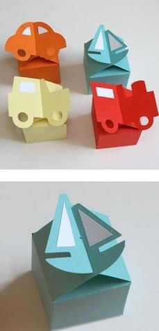boxes (make shape in front)