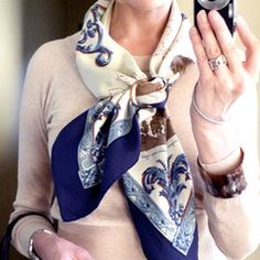 How to tie an Hermes scarf in the basic slide knot. – MaiTai Collection