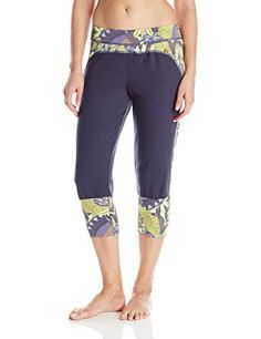 Maaji Womens Blazing Teal Yoga Pant Purple Medium -- Check out this great product.