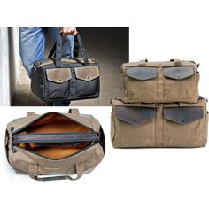 """""""Outback Duffel""""   Work, travel or gym   Dual compartments   Six color combinations   http://www.sfbags.com/collections/canvas-duffel-bags/products/outback-waxed-canvas-duffel-bag"""