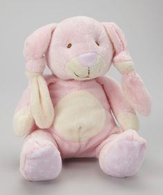 Take a look at this Pink Knotted Ear Bunny Plush Toy by Stephan Baby on #zulily today!