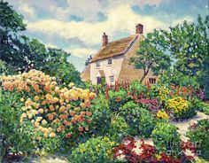 dipinti giardino cottage - Cerca con Google