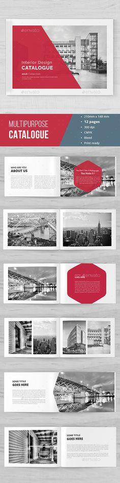 Modern Indesign Catalogue 02 Catalog, Modern and Brochures - interior design brochure template