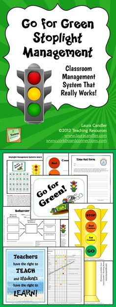 Go for Green is a teacher-tested classroom management system from Laura Candler that really works! Set it up at the beginning of the year and your class will run like clockwork all year long! $