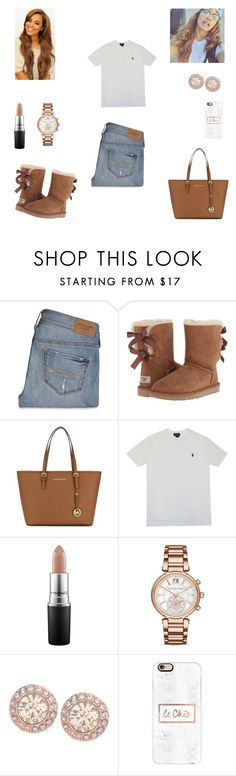 """Untitled #38"" by adriennesmartin ❤ liked on Polyvore featuring Abercrombie & Fitch, UGG Australia, MICHAEL Michael Kors, Polo Ralph Lauren, MAC Cosmetics, Michael Kors, Givenchy and Casetify"