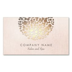 Salon and Spa Pink Linen Look Business Card. Make your own business card with this great design. All you need is to add your info to this template. Click the image to try it out!