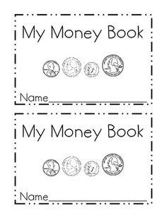 mini-book is perfect for introducing students to coins. It is designed to help children learn to identify quarters, nickels, dimes and pennies. It also introduces them to value of each coin and ends with using skip counting to count groups of like coins. Elementary Math, Kindergarten Math, Preschool, Identifying Coins, Learning Money, Coin Books, Money Activities, Money Worksheets, Money Book