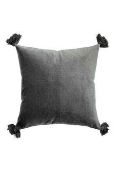 Cushion cover with pompom trim | H&M