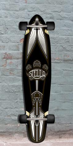 """Longboards USA - Stella Black Taj Mahal Kicktail Longboard Skateboards 42"""" Complete, $97.00 (http://longboardsusa.com/longboards/longboards-for-beginners/stella-black-taj-mahal-kicktail-longboard-skateboards-42-complete/)"""